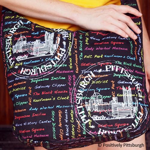 Pgh Stamp Hobo Bag