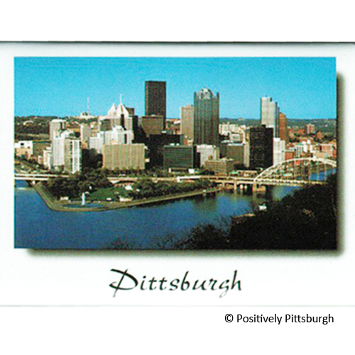 Pittsburgh Skyline Rigid Magnet Positively Pittsburgh