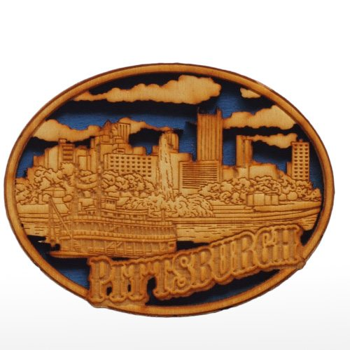 wooden city magnet positively pittsburgh